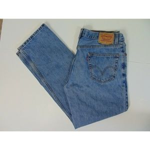 Levis 550 Men 36 x 34 Relaxed Fit Blue Jeans Work